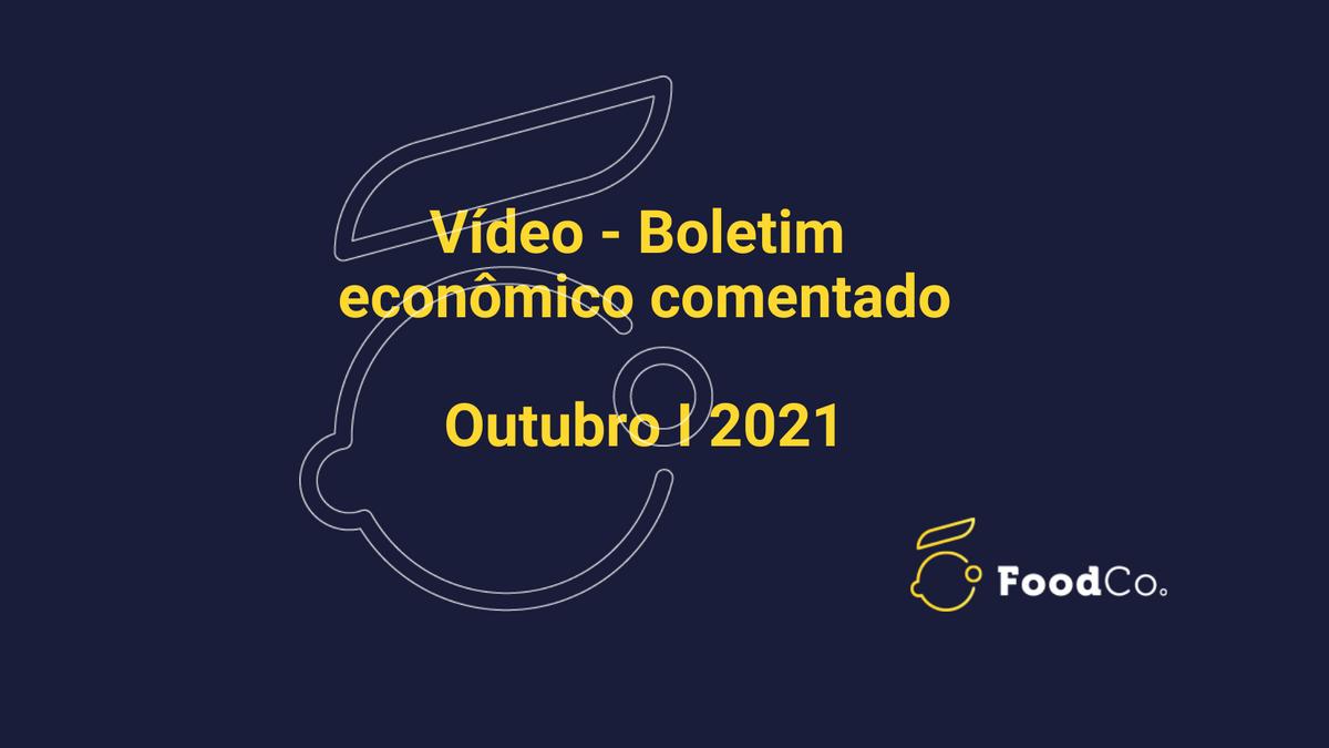 Vídeo I Boletim comentado de outubro